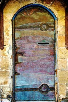 Mysterious, colorful doorways