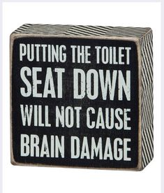 Put the seat down!