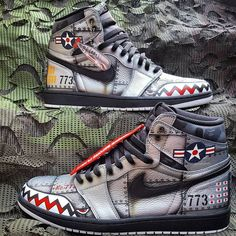 Oh my God these Nike air Jordan ones absolutely amazing you guys should definitely check them out market Best Sneakers, Custom Sneakers, Sneakers Fashion, Custom Painted Shoes, Custom Shoes, Custom Jordans, Zapatillas Casual, Exclusive Shoes, Fresh Shoes