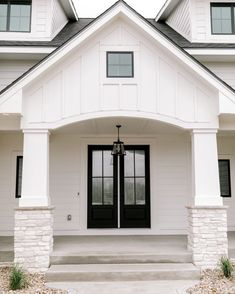 Dream Home Design, My Dream Home, House Design, Design Homes, Dream House Exterior, Exterior House Colors, Exterior Doors, Entry Doors, White Exterior Houses