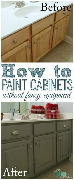 The Average DIY Girl's Guide to Painting Cabinets: Supplies - no professional…