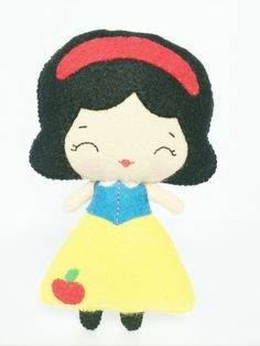 Snow White Doll by littlehappystitches on Etsy, $18.00