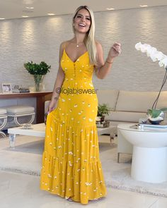 Casual Summer Outfits, Casual Dresses, Summer Dresses, Maxi Skirt Style, Dress Skirt, Dress Outfits, Fashion Dresses, Cute Outfits, Modelos Fashion