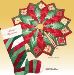 How about a quilted Christmas Tree skirt? We couldn't be more excited about the free patterns we've found. These patterns also can be turn...