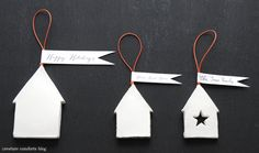 DIY: Simple Neighborly Clay House OrnamentGifts - Home - Creature Comforts - daily inspiration, style, diy projects + freebies