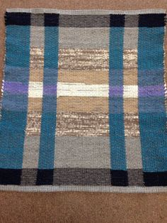 """""""February"""" rug 31"""" X 34"""" Wool and cotton blends, recycled fabrics"""