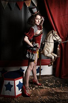 Circus skirt pin up & burlesque style by blacknorns on Etsy, €52.00