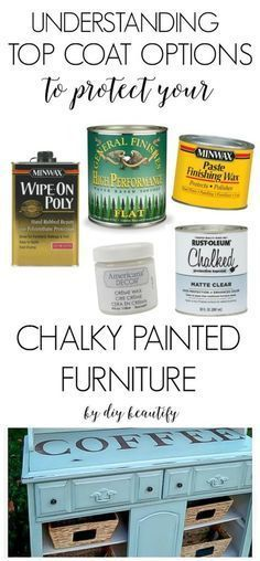 This post explains the best top coat options to protect your chalky painted furniture pieces! Understand when to wax and when to poly! Read more at diy beautify! #refinishedfurniture