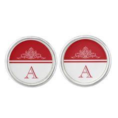 #elegant - #Elegant monogram design cufflinks