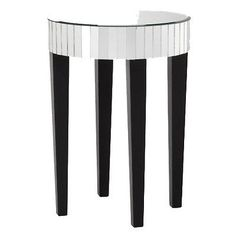 Mirrored Round Living Room Accent Side End Table | eBay