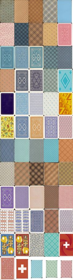 Card Backs of the Swiss Patterns