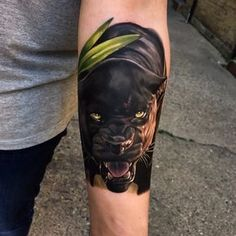 "3,795 Likes, 27 Comments - Jordan Baker (@thebakery) on Instagram: ""First tattoo for Beth! Had great fun starting this panther. A nice #bagheera feel to this piece…"""