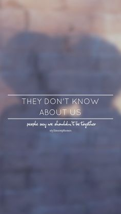 They Don't Know About Us - UAN