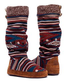 MUK LUKS Spiced Isle Vintage Jewels Angie Slipper Boot Women