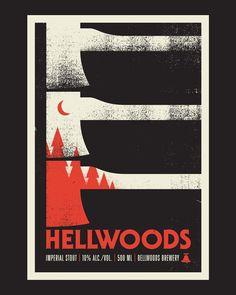 Hellwoods label redesign for @bellwoodsbeer