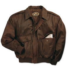 Just found this Mens Leather Bomber Jackets - Leather Bomber Jacket -- Orvis on Orvis.com!