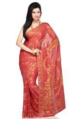 Old Rose Pure Banarasi Silk Georgette Saree with Blouse
