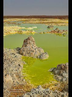 volcanic landscape of Dallol in the Danakil Depression, Ethiopia