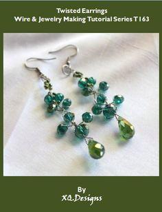Twisted Earrings Wire & Jewelry Making Tutorial T163