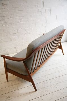 Illum Wikkelsø; Teak Sofa for Soren Willedsen, 1960s.