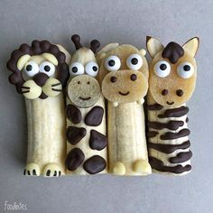 Adorable little creatures from food – Food Carving Ideas - Kids Snacks Cute Snacks, Cute Food, Toddler Meals, Kids Meals, Food Art For Kids, Fun Food For Kids, Fruits For Kids, Creative Food Art, Food Artists