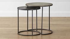 """Knurl Accent Tables Set of Two 