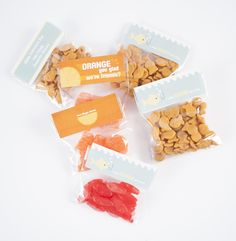 Hooked on You TEMPLATE: 131217 By Brooke Mehr Large Address Labels [ pkg of 12 ] Spread a little love this Valentine's Day with these fun and simple bag toppers. Self-sticking and very easy to apply to the top of a small cellophane or ziploc bag.  Also pictured: Template 131216