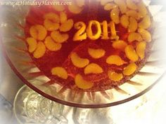 New Years Punch, New Year's Fun Foods & Creative Cuisine - I like the fruit floating year