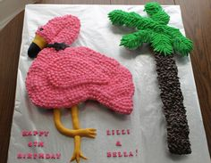 flamingo cupcake cake - @LuShawn Vaughan Vaughan Vaughan Carter Andrade  I even found one for you! :)