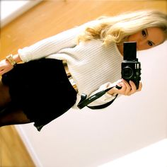love this belt! fall outfit