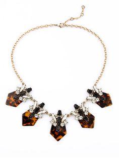 Tortoise Crystal Statement Necklace