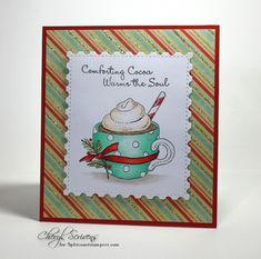 Comfort Cocoa by CherylQuilts - Cards and Paper Crafts at Splitcoaststampers Christmas Cards To Make, Xmas Cards, Handmade Christmas, Impression Obsession Cards, Christmas Challenge, Paper Crafts, Card Crafts, Winter Cards, Copics