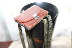 Купить Кожаный кошелек Питон - коричневый, кошелек из кожи, кошелек кожаный, кошелек женский