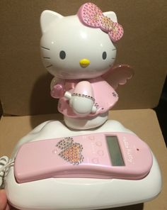 64afb2932 Hello Kitty Corded Telephone Phone Pink Angel Wings Caller ID in  Collectibles, Animation Art & Characters, Japanese, Anime