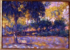 Henri Matisse - Landscape with eucalyptus trees and river. Trees in front of a river 1908