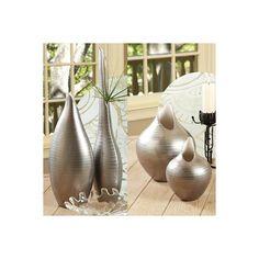 Global Views Platinum Stripe Vase