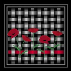 Poppies and Ribbon Pattern I don't want the poppy flowers, but the pattern for the ribbon quilt is brilliant.... Love it