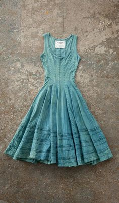 "I'm not sure this would work on my top half. I love that it has variation in color and texture without being a ""print."" I like the greens/blues, the seams, the ruffling (pleats?). I want more things like this that are interesting and not a solid or a print."