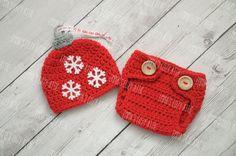 Newborn christmas hat crochet ornament hat baby by emmascozyattic