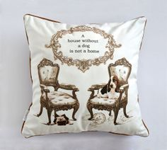 Dog decorative pillow dog lover gift home accent by MimoCadeaux, $43.00