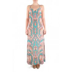 Alice & Trixie Lexie Maxi Dress in Peach Sanibel Snake - Peach and Turquoise snake print maxi dress.  http://www.shopcrushboutique.com/apparel/dresses/alice-and-trixie-lexie-maxi-dress-in-peach-sanibel-snake.html