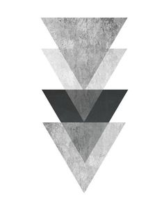 Triangle Print Printable Art Geometric Art print by exileprints Geometric Poster, Geometric Wall Art, Abstract Wall Art, Geometric Shapes, Art Scandinave, Art Minimaliste, Triangle Print, Triangle Wall, Hipster Triangle