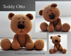 crochet pattern, amigurumi, teddy, teddy bear - pdf, English or German