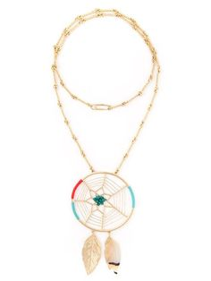 Shop Aurelie Bidermann long dreamcatcher necklace in Soho-Soho from the world's best independent boutiques at farfetch.com. Over 1000 designers from 300 boutiques in one website.