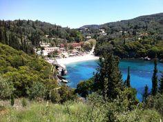 Corfu het pittoreske baaitje van Liapades.