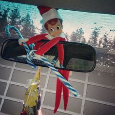 When we got up to get ready to go see Santa this morning Elfer was nowhere to be found...when we got in the car, there he was! He wanted to see Santa too!   https://www.facebook.com/JessLasher/timeline/story?ut=43&wstart=0&wend=1451635199&hash=7421271096930635601&pagefilter=3