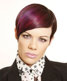 Formal Short Straight Hairstyle. Click on the image to try on this hairstyle and view styling steps!