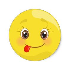 Silly Tongue Smiley Face Emoji Stickers - sticker stickers custom unique cool diy