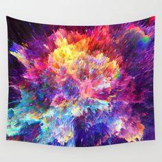 Hag Wall Tapestry by Dorian Legret - Small: x Space Tapestry, Trippy Tapestry, Tapestry Bedroom, Wall Tapestry, Hippie Tapestries, Tree Tapestry, Hippy Room, Abstract Digital Art, Vivid Colors
