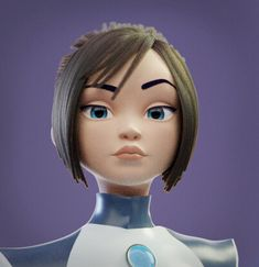 Just a cute scifi girl and her pet robot. Animation Reference, 3d Animation, Zbrush, Maya, Blender Models, Modelos 3d, 3d Girl, Epic Art, 2d Art